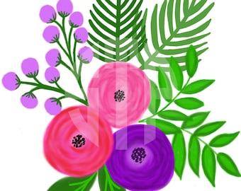 Floral Illustration V.2 Clip Art (Instant Download)