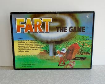 fart the game, funny party game, vintage board game, vintage drinking game, farting game, gross board game, novelty funny birthday gift, 90s