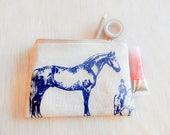 Horse Gift for Women/ Make Up Bag/ Bridesmaid Gift/ Gift for Mom/ Valentines Day Gift/ Gift for Her/ BFF Gift/ Gift for Girlfriend/ Pouch