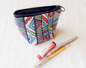 Make Up Bag/ Boho Gift for Her/ Gift for Mom/ BFF Gift/ Girlfriend Gift/ Bridesmaids Gift/ Boho Pouch/ Wife Gift/ Coworker Gift/ Valentines