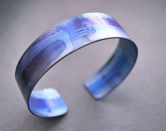 Titan Moon of Saturn Titanium bracelet