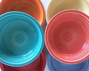 Fiesta Ware Bowls, Set of 6, Homer Laughlin, China, Ceramics and Pottery