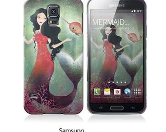 10% Off - Summer SALE Phone Case - Mermaid and Narwhal - iPhone 5 - iPhone 5C - iPhone 6 - Samsung Galaxy