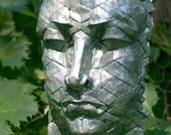 Sibyl - origami mask with pearlescent enamel finish