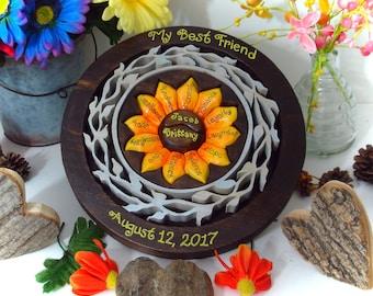 Custom Designed Sunflower Unity Ceremony Wedding Puzzle Blend Family Wedding Unity Puzzle Personalized Wedding Gift Custom Anniversary Gift