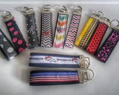 Key Fob, Wristlet Key Fob, Monogram Key Fob, Shower Favor Gift, Stocking Stuffer, Red White Blue Key Fob, Denver Broncos Key Fob, Key Chain