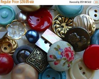 ONSALE 2 Dozen Antique and Vintage Fancy Rhinestone Glass Buttons Lot 1240