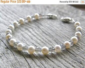 Summer Sale 20% Off Pearl and Labradorite Medical ID Bracelet, Blue Flash Alert Bracelet, Sterling Silver Clasp Replacement Bracelet