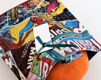 Super Heros Snack Bag Reusable  Eco Friendly