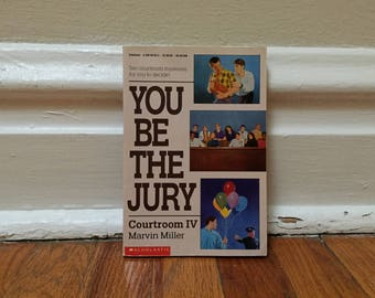 You Be the Jury Courtroom IV by Martin Miller 1991 Vintage Scholastic Book Paperback Children's Library