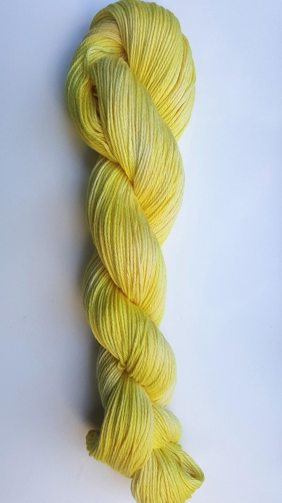 Sunshine- 100% Organic Cotton, Hand Dyed, Solid Color, Hand Painted