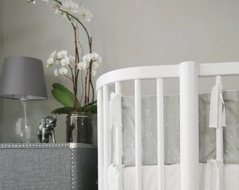 GOTS Certified Organic  100% // Crib bedding // Stokke Bedding  // Oval bedding // Italian Oeko-Tex trim in 30 colors // RTS in  2-3 weeks