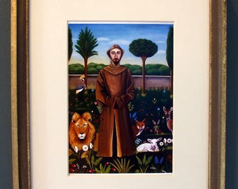 Framed Fine Art Print  St. francis Of Assisi