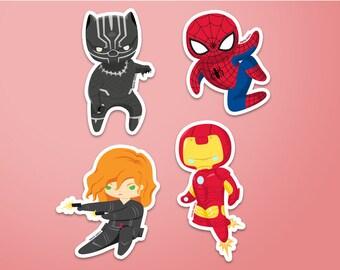 Team Iron Man Stickers