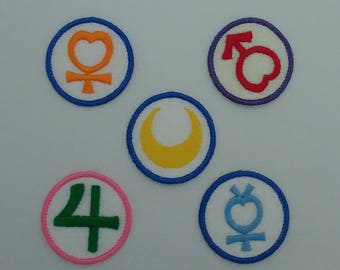 Sailor Moon Planet Symbols Iron-On Patch