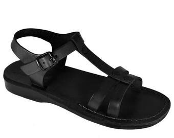 15% OFF New - Black Oliver Leather Sandals For Men & Women - Handmade Sandals, Leather Flats, Leather Flip Flops, Unisex Sandals, Brown Sand