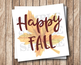Instant Download . Printable Happy Fall Tags, Printable Fall Leaf Tags