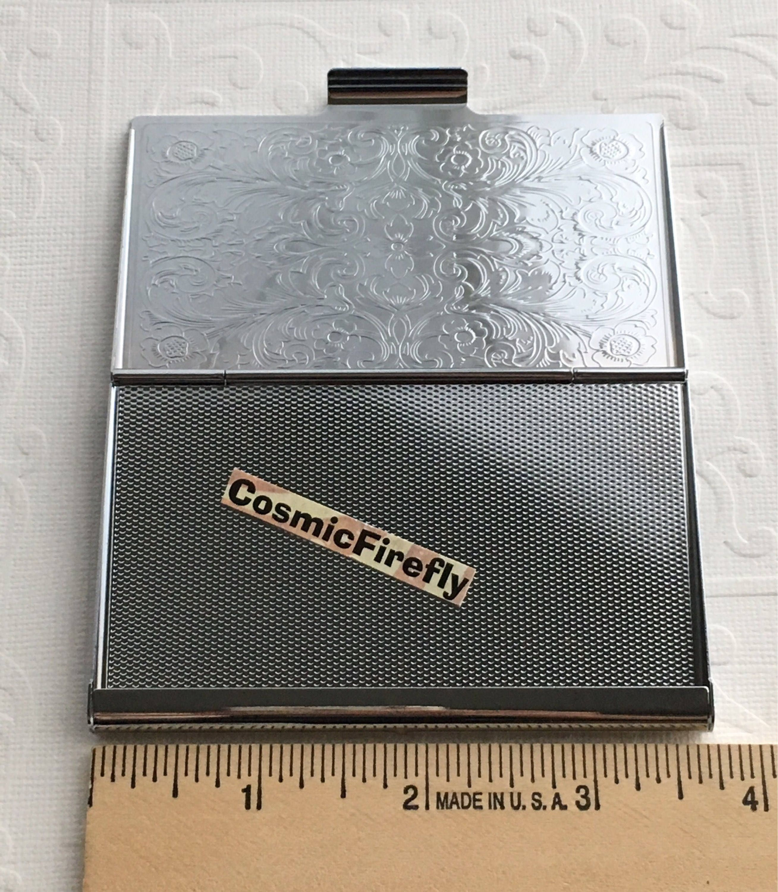 Shiny Silver Plated Angel Business Card Case Steampunk Card Case ...