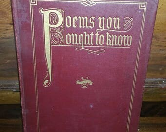 Poems You Ought To Know Vintage Hard Cover Book