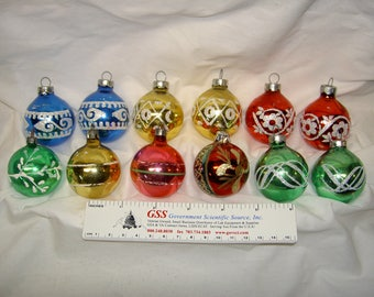 Vintage Christmas Ornaments (Groups of 6)