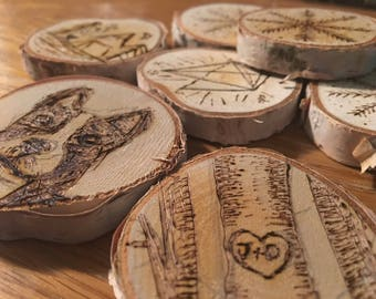 Wood Burned Personalized Ornament
