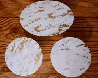 Gray Marble and Gold Marble Sets