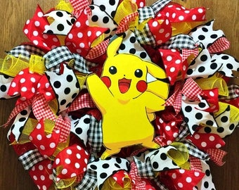 SALE & FREE SHIPPING Pokemon Pikachu - Welcome Door Wreath