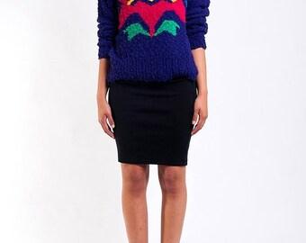 40% OFF The Vintage Purple Aztec Tulip Textured Sweater