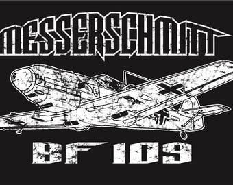 DUNKIRK Messerschmitt BF 109 German Luftwaffe Fighter Aircraft WW2 T-Shirt Airplane World War II