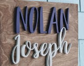 Nursery Decor Custom Wood Name Sign - Wooden -Personalized - Wall Hanging - Nursery - Welcome Baby - Birthday Gift - Child's Room Decor