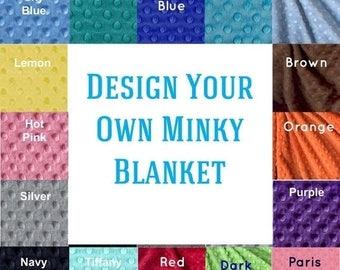 SALE Toddler Blanket / 48 x 60 Custom Minky Baby Blanket Boy Girl, Personalized Blanket / Minky Blanket / Toddler Bedding