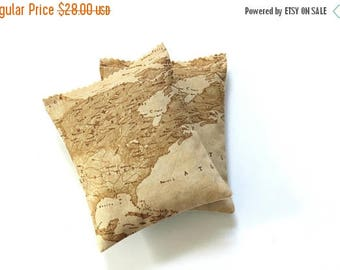 SALE World Map Lavender Sachets, Travel Accessories for Her, Organic Freshener