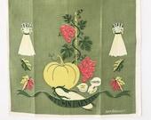 Vintage Kitchen Tea Towel Autumn Harvest Ivan Bartlett Fall Theme
