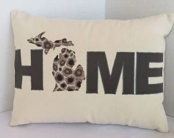 "12 x 16"" HOME Michigan Pillow"