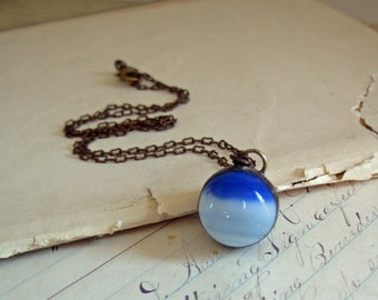 Vintage Marble Necklace Repurposed Jewelry