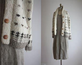 folk wool cardigan