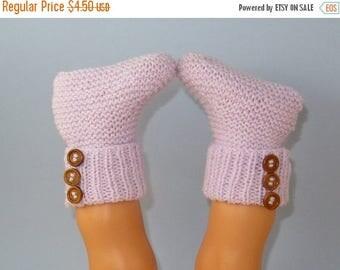 40% OFF SALE Digital pdf download knitting pattern -  Easy Baby 3 Button Rib Top Booties pdf download knitting pattern