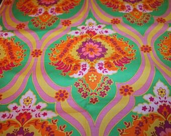Crazy Love Priscilla Green Jennifer Paganelli Fabric Just Under One Yard HTF OOP  Beautiful Bright