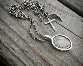 Sterling Silver Fingerprint Necklace or Bracelet Wild Prairie Silver Jewelry Handmade Joy Kruse
