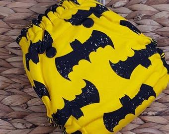 Batcall - Newborn (7-12#) Hidden PUL w/Bamboo/OBV Soaker Fitted Cloth Diaper