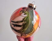 Glass Ornament - Hand Painted Holiday Decoration