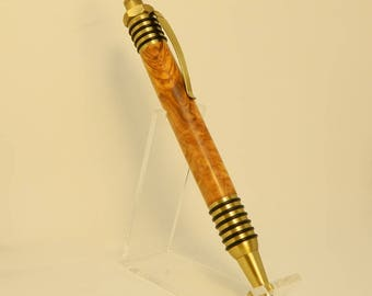 Spartan Pen with Olive wood and antique brass