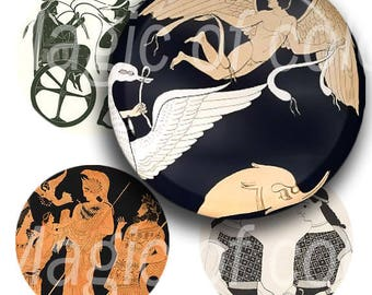 Ancient Greece - 63  1 Inch Circle JPG images - Digital  Collage Sheet