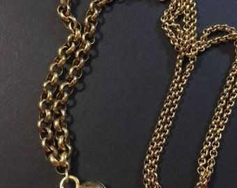 1928 rhinestone heart necklace