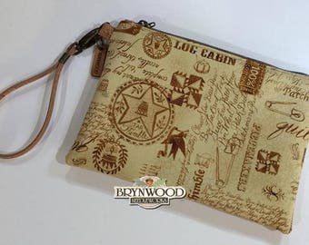 Brynwood Needleworks Quilter's Cork Grab and Go Clutch, Quilter's Simple Cork Clutch, Grab and Go Cork Wristlet, Cork Wristlet