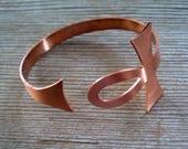 Copper Ankh Bangle Bracelet, Vintage Copper Ankh Bracelet, Vintage Copper Jewelry, Egyptian Ankh Jewelry, Copper Bangle, Copper Jewellery