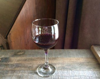 """Fake 7"""" Glass of Merlot Wine Food Prop Staging Home Decor"""
