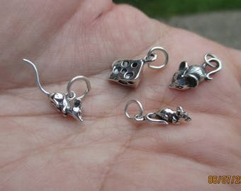 Sterling Silver Mouse or Swiss Cheese(you choose which one)