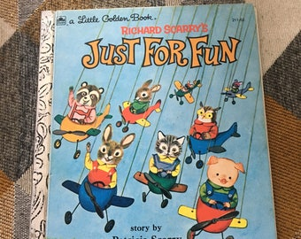 Vintage Little Golden Book Richard Scarry's Just For Fun