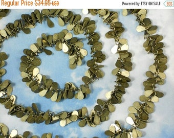 "ON SALE 38"" Bronze Teardrops Chain Fancy Cluster 9mm Dangles (M111A)"